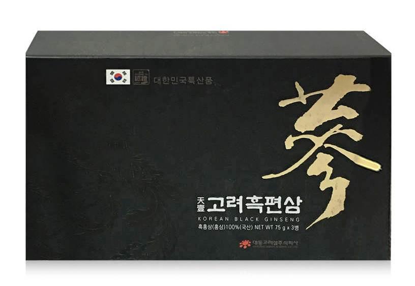 Hắc Sâm Thái Lát Daedong Hàn Quốc 75g - 3 Lọ