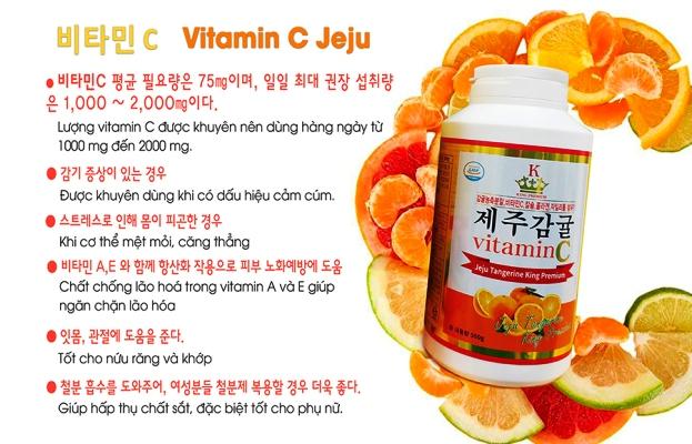 Viên Ngậm Vitamin C Nguyên Chất Đảo Jeju Hàn Quốc