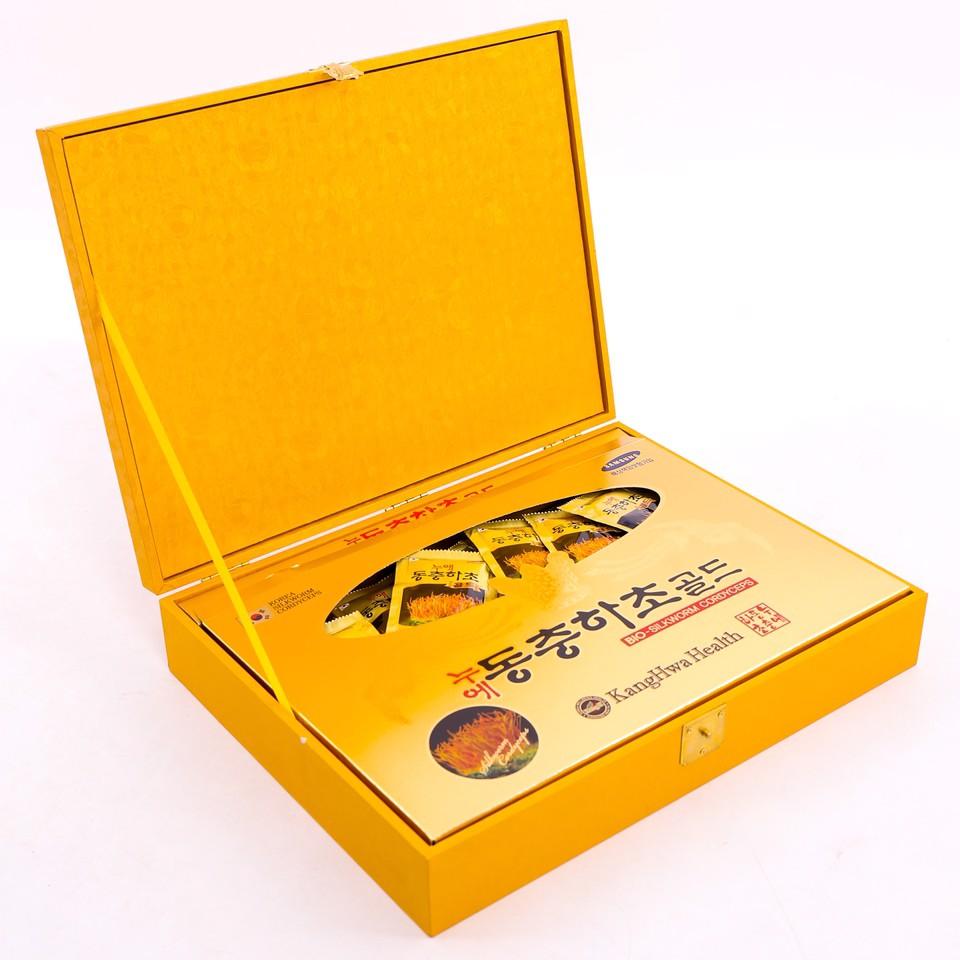 Nước Đông Trùng Hạ Thảo Kangwha 60 Gói - Nước đông trùng hạ thảo hộp vàng