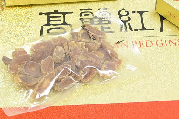 Hồng sâm khô thái lát Hàn Quốc hộp 200gr - slided Korea red ginseng