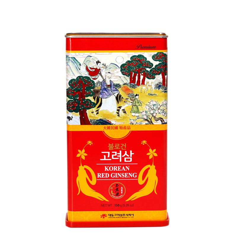 Hồng sâm củ khô Hàn Quốc Daedong hộp 150gr premium hộp 16 đến 25 củ