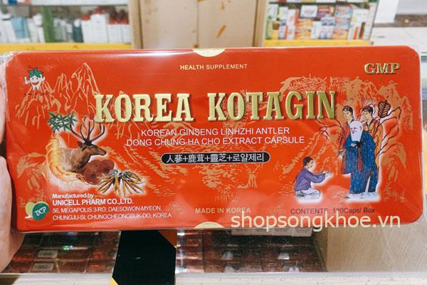 Viên sâm nhung Hàn Quốc Korea Kotagin - nhập khẩu chính hãng Kovis Pharm