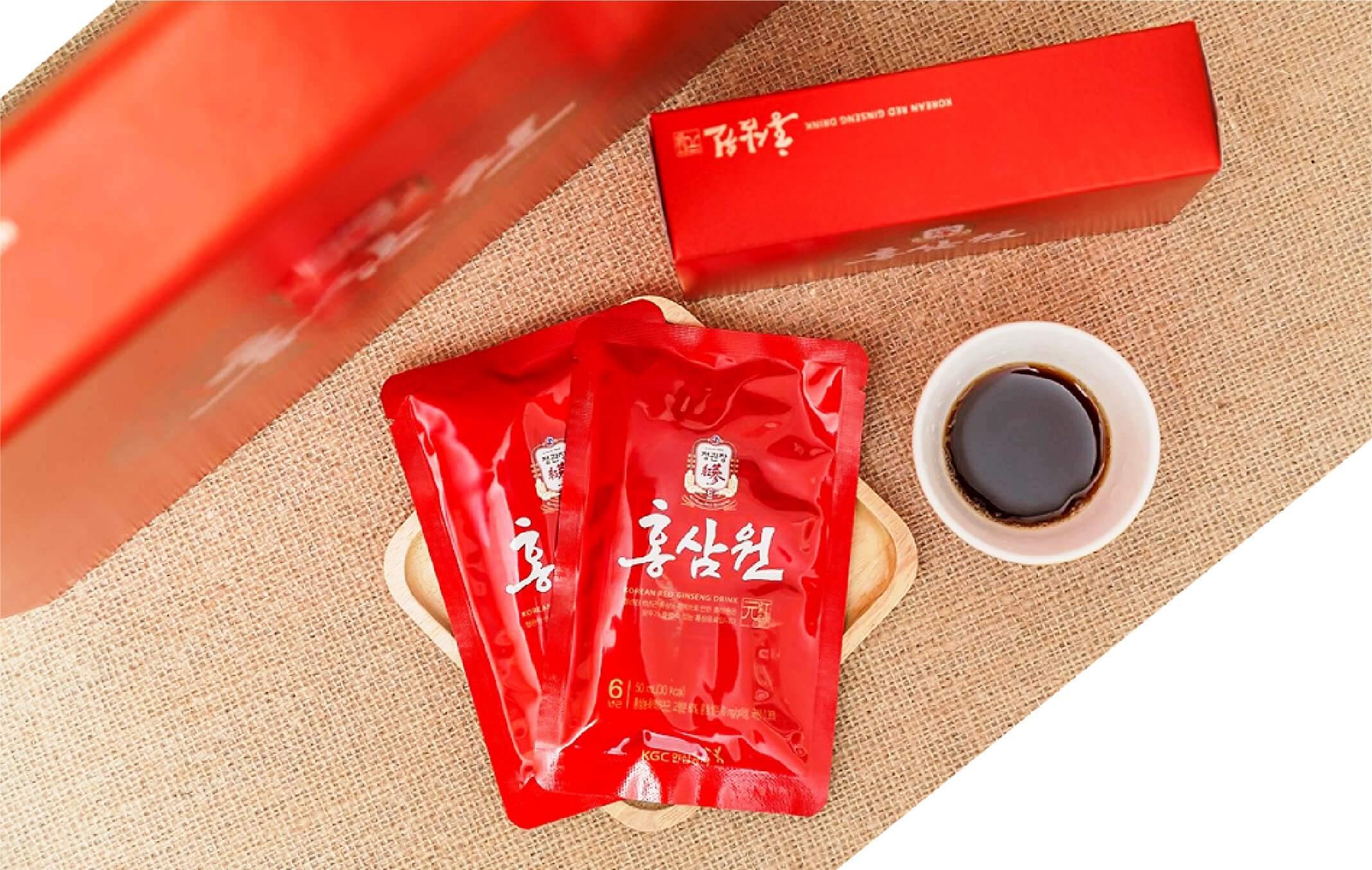 Nước hồng sâm Chính phủ Hàn Quốc Cheon Kwan Jang hộp 30 gói