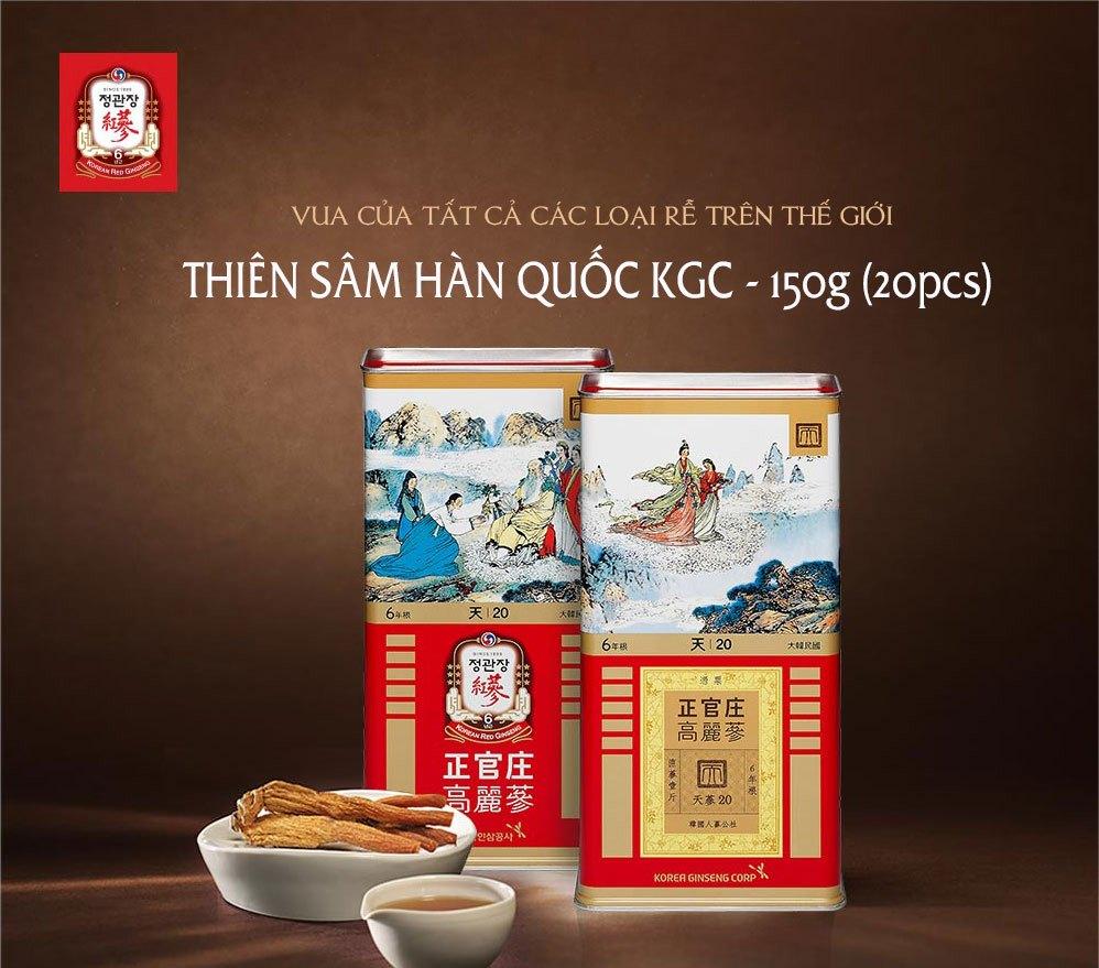 Thiên Sâm KGC Cheong Kwan Jang KRG HEAVEN 20 PCS 150G (7 củ)