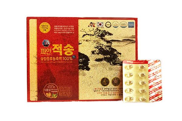 Viên tinh dầu thông đỏ Hàn Quốc cao cấp Pine Jeok Song Gold - hộp 120v