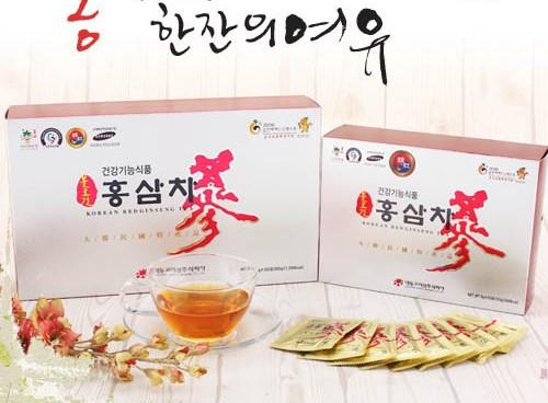 Trà hồng sâm Hàn Quốc 100 gói x 3g Daedong: Tiện lợi cho người bận rộn