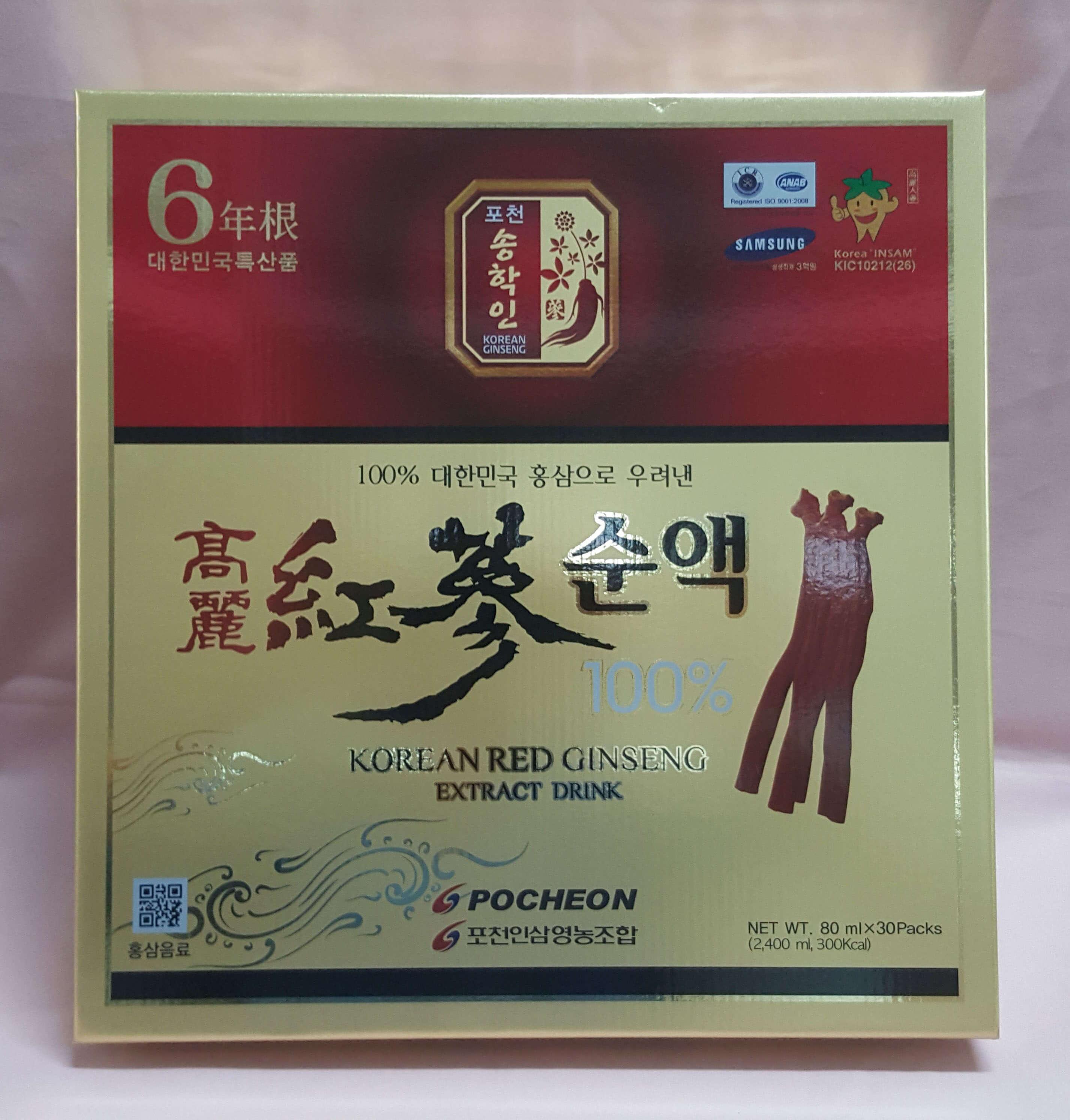Nước Hồng sâm Hàn Quốc dạng gói Pocheon