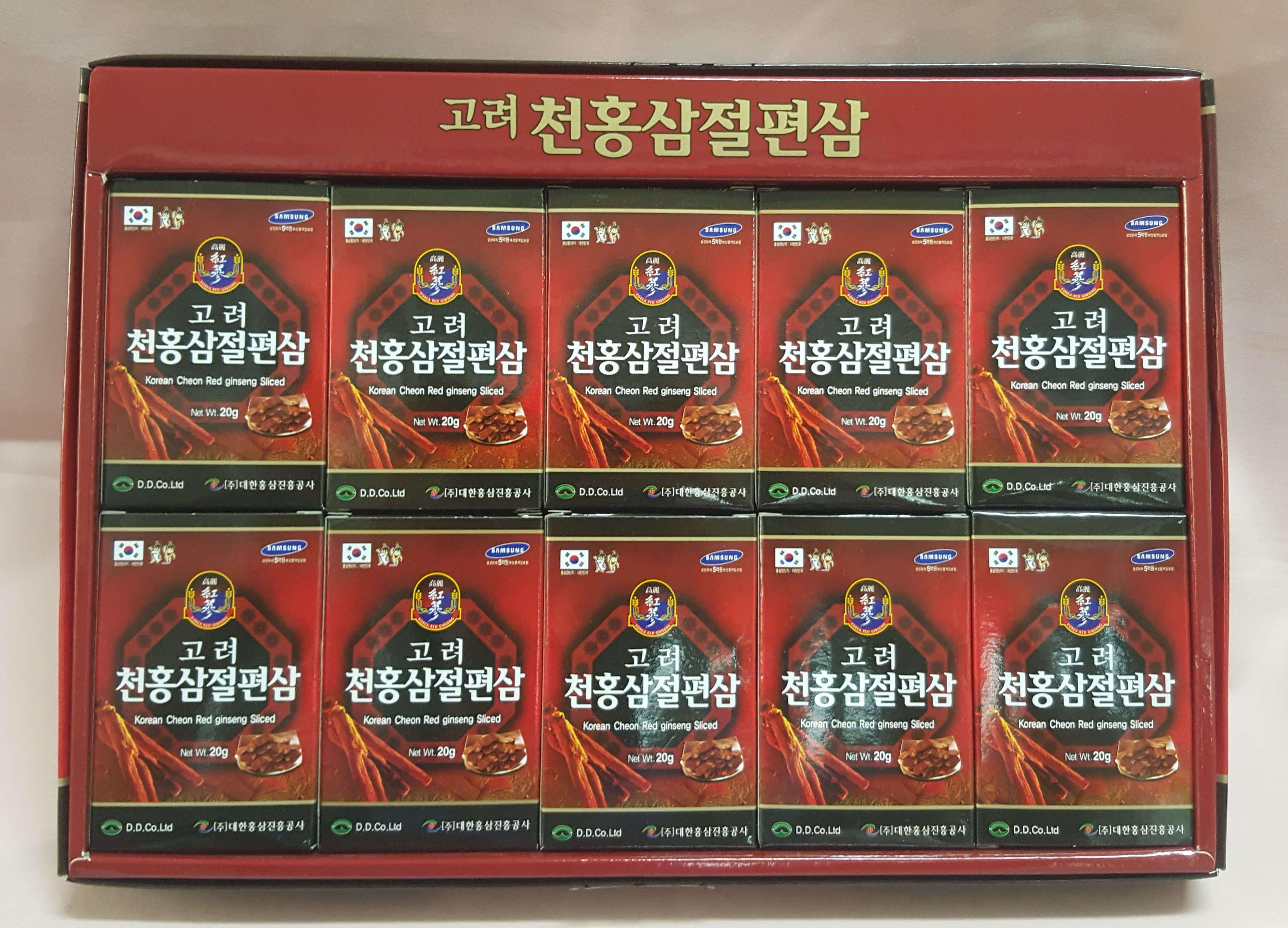 Sâm lát tẩm mật ong Hàn Quốc