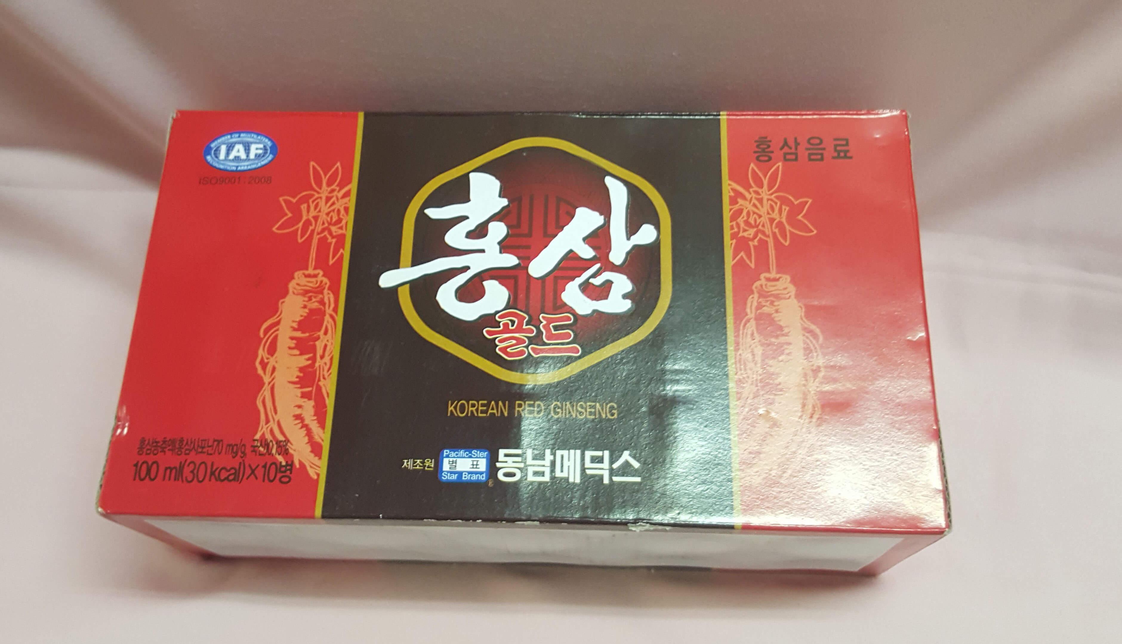 Nước hồng sâm đóng chai Hàn Quốc