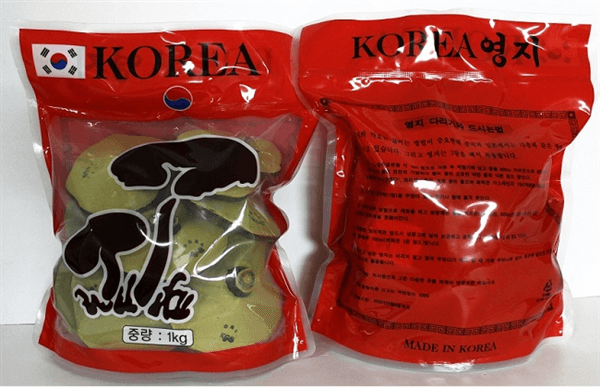 Nấm Linh Chi Hàn Quốc túi đỏ hiệu 2 cây nấm