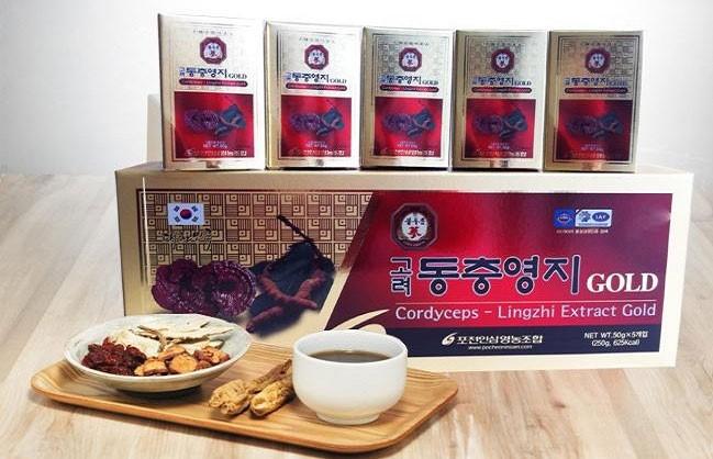 Cao Linh Chi Hàn Quốc nhiều loại - Cao Linh Chi đỏ