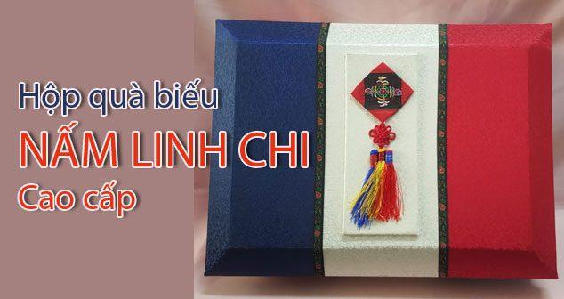 Hộp quà biếu Nấm Linh chi 3 sọc