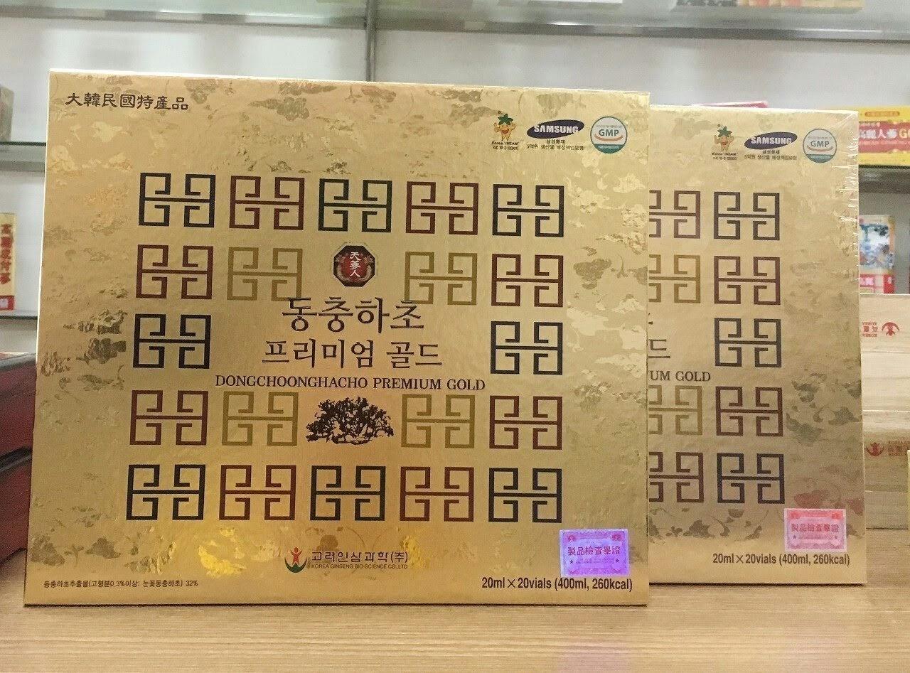Tinh chất đông trùng hạ thảo 20 ống Dongchoonghacho Premium Gold