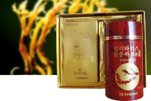 Đông Trùng Hạ Thảo dạng viên Hàn Quốc Hộp 2 lọ đỏ