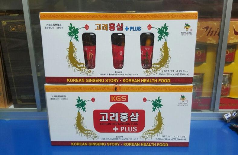 hong sam nguyen cu kgs korean red ginseng liquid plus 120ml x 10 chai  hop