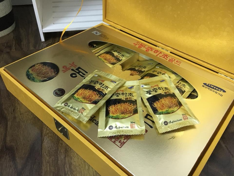 Tinh chất Đông Trùng Hạ Thảo Deadong 60 gói hộp gỗ đen