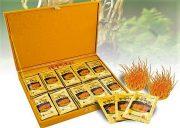 Đông Trùng Hạ Thảo Kangwa hộp gỗ vàng 60 gói