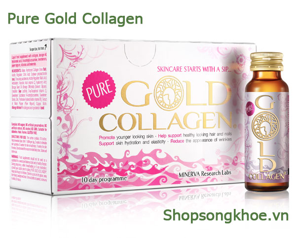 Gold Collagen Pure - Nước uống bổ sung Collagen cho vẻ đẹp quyến rũ