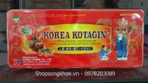 Viên sâm nhung Hàn Quốc Korea Kotagin – nhập khẩu chính hãng Kovis Pharm