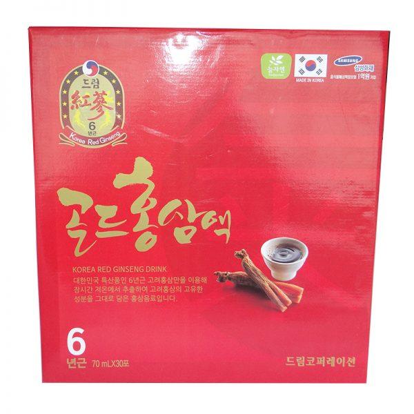 Nước Hồng Sâm 6 Năm Korea Red Ginseng Drink Sobek Hộp 30 gói