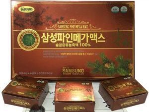 Viên tinh dầu thông đỏ Samsung Pine Mega Max 120 viên Hàn Quốc