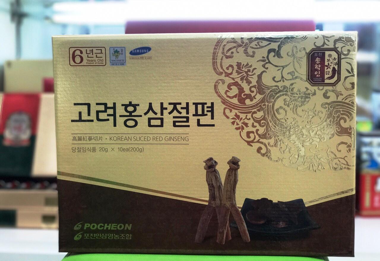 Sâm lát tẩm mật ong Pocheon Hàn Quốc Hộp 200g