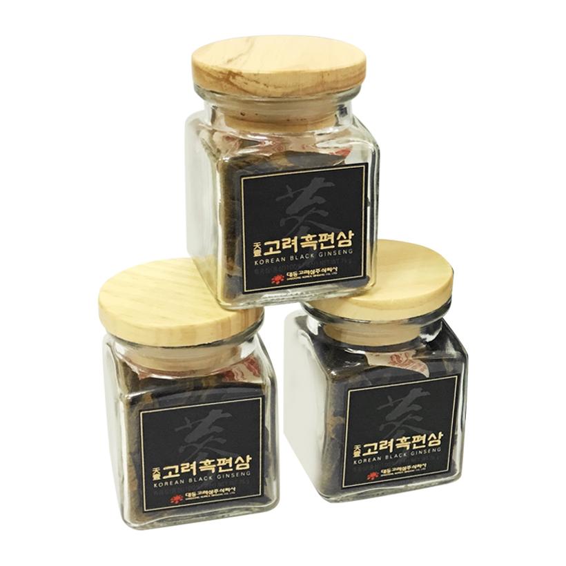 Hắc sâm thái lát Deadong hộp 3 lọ 75g - Daedong Korean Black Ginseng