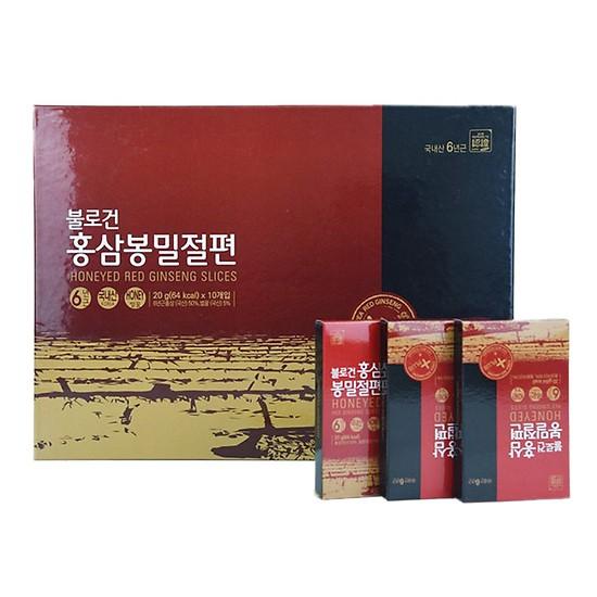 Hồng Sâm Lát Tẩm Mật Ong Daedong 20g Hộp 10 Gói