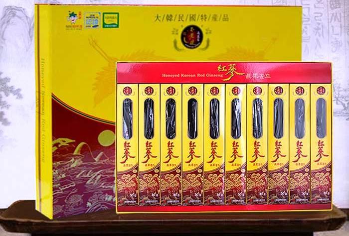 Hồng Sâm Củ Tẩm Mật Ong Daedong 300g Hộp 10 Củ