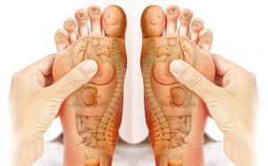 Bàn chân chứa rất nhiều huyệt đạo liên quan đến các bộ phận trong cơ thể