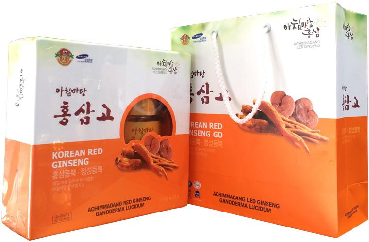 Cao Hồng Sâm Linh Chi Hàn Quốc Achimmadang Hộp 2 Lọ - 240gr