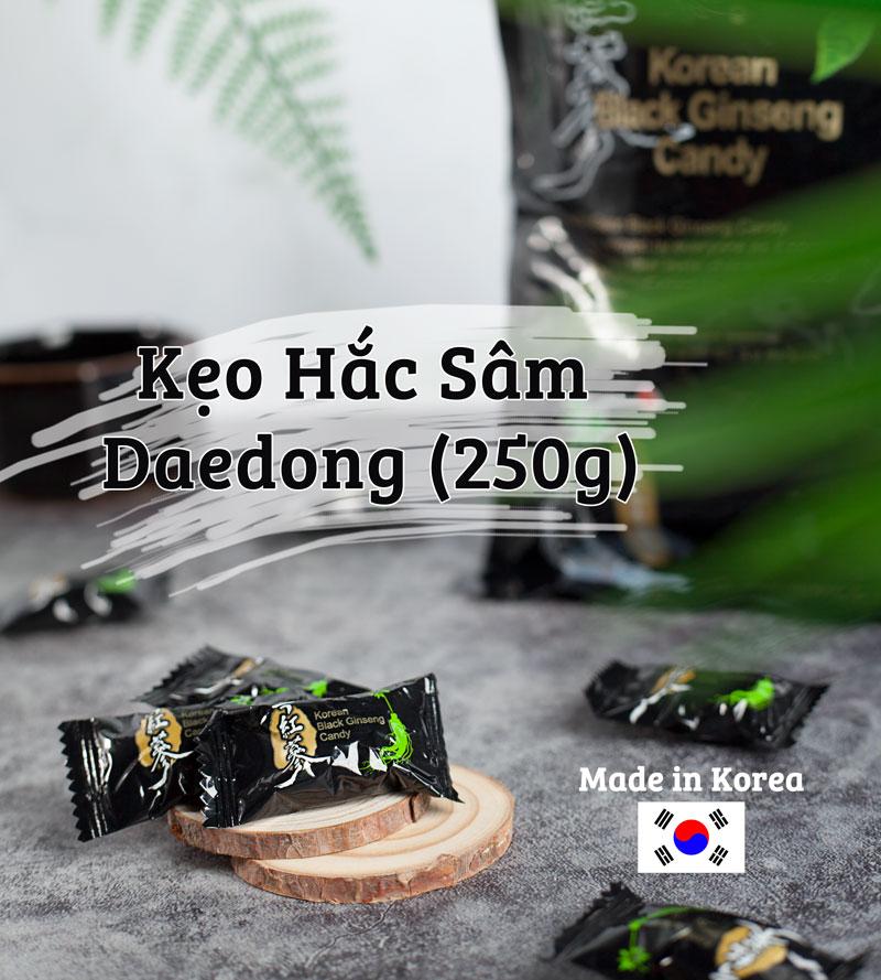 Kẹo Hắc Sâm Hàn Quốc Daedong Đóng Gói 250g