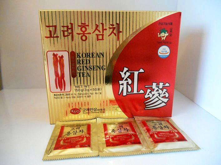 Trà Hồng Sâm KGS Hàn Quốc Cao Cấp Hộp 100 Gói
