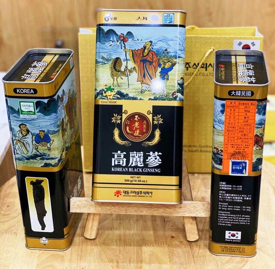 Hắc Sâm Củ Khô 150gr Daedong Hàng Nhập Khẩu Cao Cấp
