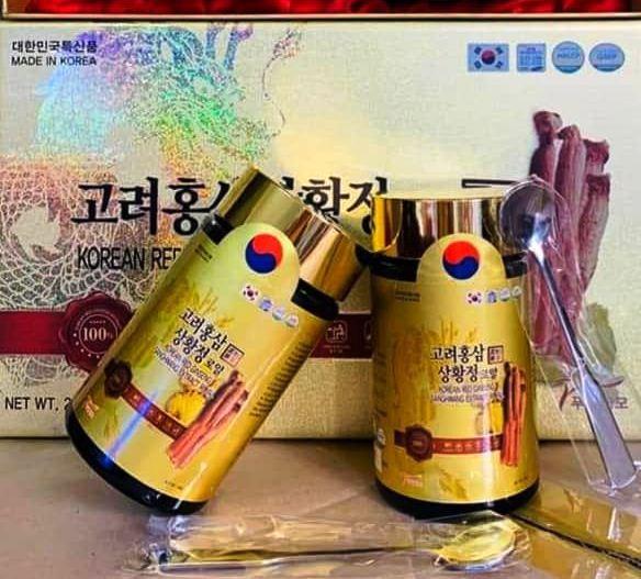 Cao Hồng Sâm Nấm Thượng Hoàng Thượng Hạng Sanghwang Hàn Quốc
